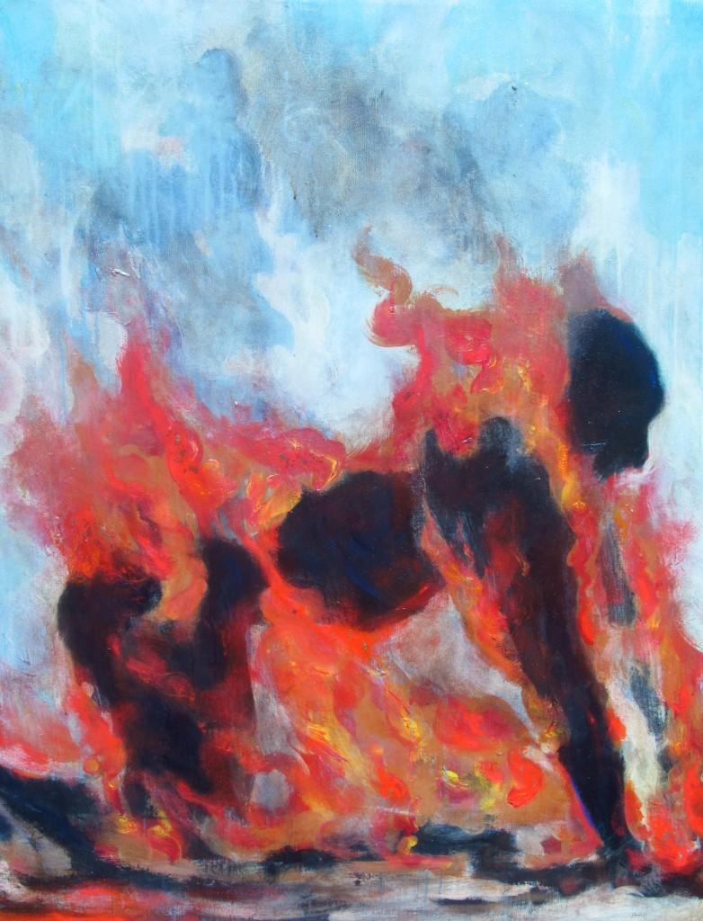 Unemployed Man on Fire - Tunisia