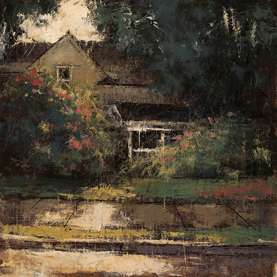 Quaint Cottage, Romona Youngquist, 12 X 12, Oil